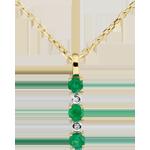 Colgante Clarisse - esmeraldas y diamantes