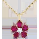 Colgante María Flora - rubíes