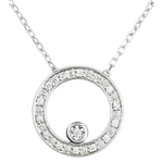 Colier Destin - Cerc de eleganţă - aur alb de 18K