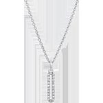 Collana Cartouche pavé - oro bianco 18 carati e diamanti