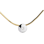 Collana Centro del Mondo - Oro bianco e Oro giallo - 18 carati - Diamante