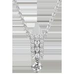 Collana Destino - Medici - diamanti e oro bianco 9 carati