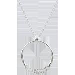 Collana Eternità - Oro bianco - 9 carati - 5 Diamanti