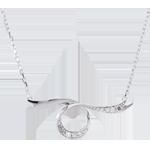 Collana Fiocco Magico - Oro bianco - 9 carati - 3 Diamanti