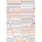 Collana Genesi - Diamanti grezzi - Oro rosa - 18 carati - Diamanti