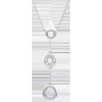 Collana Ogiva - Oro bianco - 9 carati - 5 Diamanti