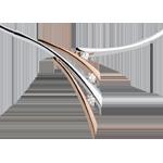 Collana Ombrée - Oro rosa e Oro bianco - 18 carati - 3 Diamanti - 0.32 carati