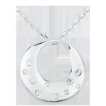 Collana Oracolo - Oro bianco - 18 carati - Diamanti - 0.10 carati