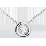 vendita Collana Punto luce diamante - Calice - Oro bianco - 18 carati - Diamante