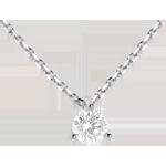 Collana Punto luce - Oro bianco - 18 carati - Diamante - 0.26 carati