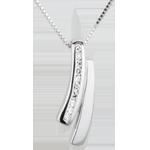 Collana Saggezza - Oro bianco - 18 carati - 10 Diamanti
