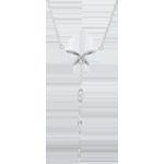 Collana Soffio Leggero - Oro bianco - 18 carati - 5 Diamanti