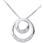 Collana Zeffiro - Oro bianco - 9 carati - Diamante