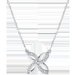 comprar en línea Collar Frescura - Lirio de verano - oro blanco