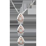 Collar Gota de Rocío modificado - oro blanco, oro rosa - 18 quilates