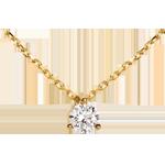 Collar Solitario oro amarillo - 0.205 quilates