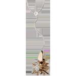 Collier Balade Imaginaire - Reine Araignée - or blanc et or rose 18 carats et diamants