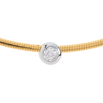 bijou or Collier cable or jaune puce diamant (TGM)