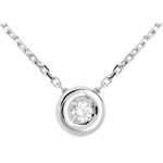 bijouteries Collier Calice or blanc