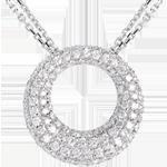 Collier Cassiopée or blanc 18 carats pavé - 1.55 carats - 104 diamants