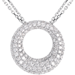 Collier Cassiopée or blanc 18 carats pavé - 1.55 carats - 104 diamants