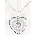 cadeaux femmes Collier Coeur Orma or blanc