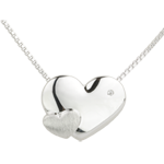 mariage Collier Coeurs Douceur or blanc