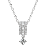 vente Collier Destinée - Médicis - diamants et or blanc 9 carats