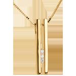 acheter en ligne Collier Diapason Trilogie or jaune - 3 diamants