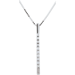 Collier Diata - or blanc 9 carats