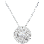 Collier Elsa - 15 diamants - or blanc 9 carats