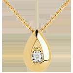 achat Collier fiole or jaune diamant