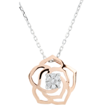 Collier Fraicheur - Rose Absolue - or blanc et or rose 18 carats