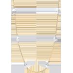 Collier Génèse - Diamants Bruts - or blanc et or jaune 18 carats
