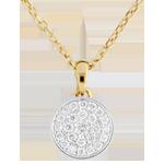 cadeaux femme Collier Ma Constellation bicolore - 0.163 carat - or blanc et or jaune 9 carats