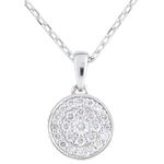 Collier Ma Constellation or blanc 9 carats - 0.163 carat
