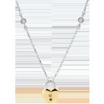 vente on line Collier Précieux Secret - Coeur - or jaune