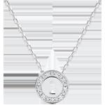Collier Précieux Secret - or blanc 9 carats et diamants