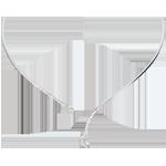 Collier rigide Bois Mystérieux - or blanc 18 carats et diamant navette