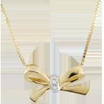 Geschenk Frau Collier Schleife Carlotta - Gelbgold