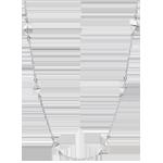 Geschenk Frauen Collier Schöpfung - Rohdiamanten - Weißgold - 9 Karat