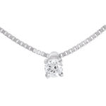 vente Collier solitaire or blanc - 0.11 carat