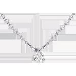 cadeau Collier solitaire or blanc - 0.11 carat