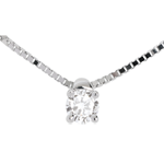 mariages Collier solitaire or blanc - 0.16 carat
