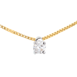 mariages Collier solitaire or jaune - 0.16 carat