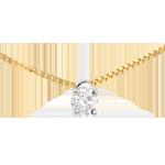 bijouterie Collier solitaire or jaune - 0.16 carat