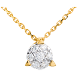 Juweliere Collier Solitär in Gelbgold - 7 Diamanten