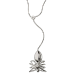 Juwelier Collier Spaziergang der Sinne - Spinnenkönigin - Weißgold und Diamanten