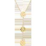 vente on line Collier Trois Soleils - or jaune