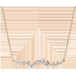 Goldschmuck Collier Verzauberter Garten - Königliches Blattwerk - Rotgold und Diamanten - 18 Karat